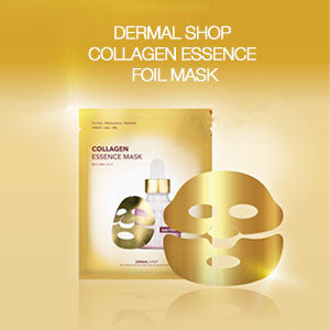 DERMAL SHOP COLLAGEN ESSENCE FOIL MASK - GOLD AND SILVER - DERMAL COSMETICS USA