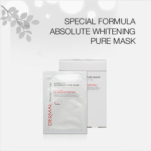 DERMAL SPECIAL FORMULA ABSOLUTE WHITENING PURE MASK - DERMAL COSMETICS USA