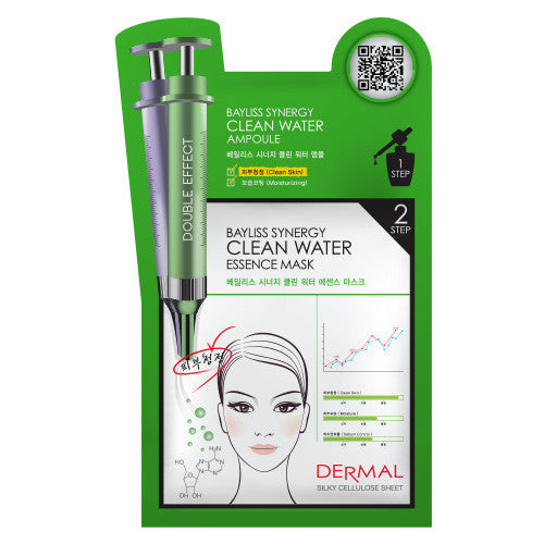 DERMAL BAYLISS SYNERGY 2 STEP MASK - CLEAN WATER - 1 BOX (5 sheets) - Dermal Cosmetics USA