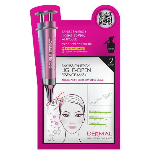 DERMAL BAYLISS SYNERGY 2 STEP MASK - LIGHT OPEN - 1 BOX (5 sheets) - Dermal Cosmetics USA