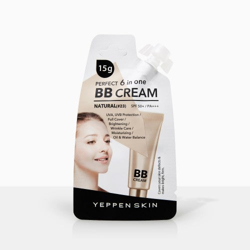 YEPPEN SKIN- PERFECT 6 IN ONE BB CREAM - NATURAL(#23) SPF-50 - Dermal Cosmetics USA