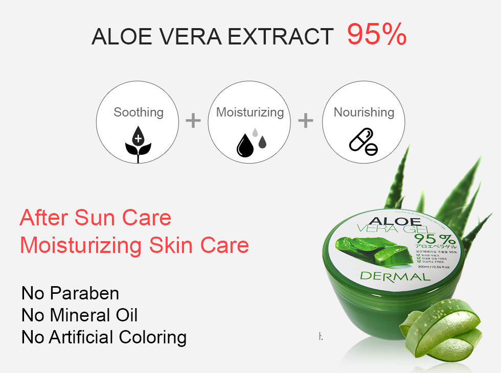 ALOE VERA GEL 95% - TUBE - Dermal Cosmetics USA