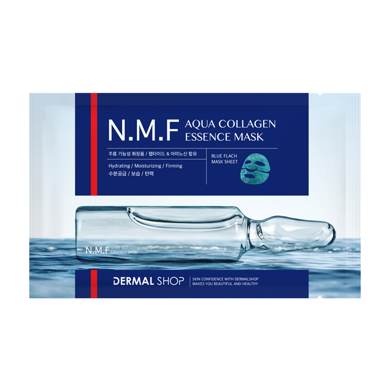 N.M.F AQUA COLLAGEN ESSENCE BLUE FOIL MASK - Dermal Cosmetics USA
