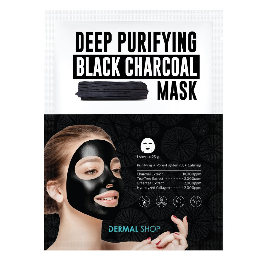 DEEP PURIFYING BLACK CHARCOAL MASK - Dermal Cosmetics USA