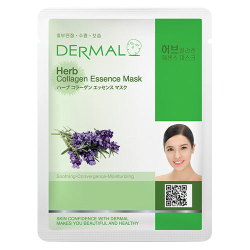 DERMAL COLLAGEN ESSENCE MASK - HERB - PACK (10CT) - Dermal Cosmetics USA