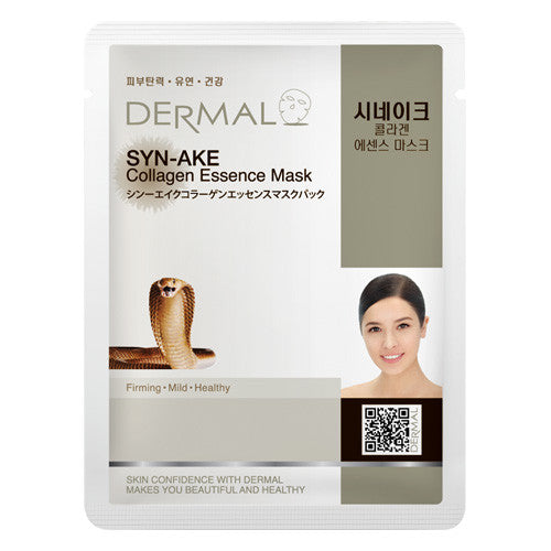 DERMAL COLLAGEN ESSENCE MASK - SYN-AKE - PACk (10CT) - Dermal Cosmetics USA