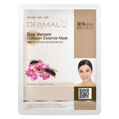 DERMAL COLLAGEN ESSENCE MASK - BEE VENOM - PACK (10CT) - Dermal Cosmetics USA