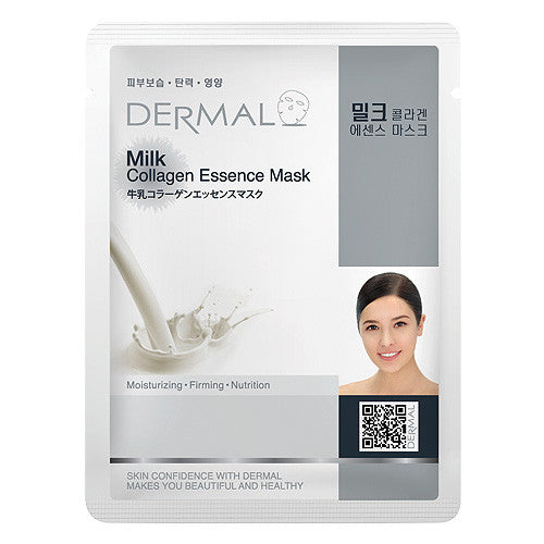 DERMAL COLLAGEN ESSENCE MASK - MILK - PACK (10CT) - Dermal Cosmetics USA