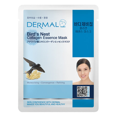 DERMAL COLLAGEN ESSENCE MASK - BIRD'S NEST - PACK (10CT) - Dermal Cosmetics USA