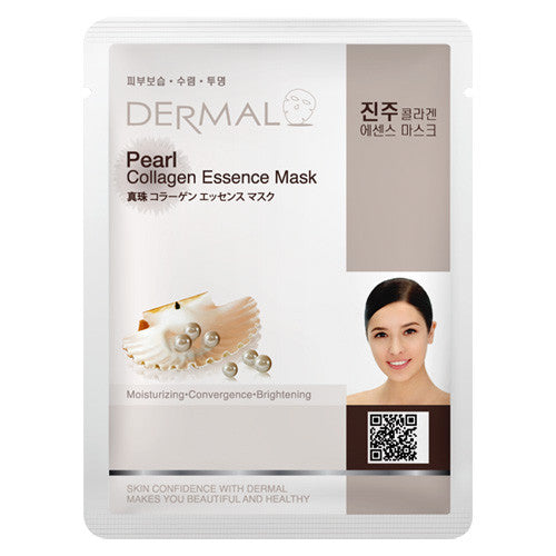 DERMAL COLLAGEN ESSENCE MASK - PEARL - PACK (10CT) - Dermal Cosmetics USA
