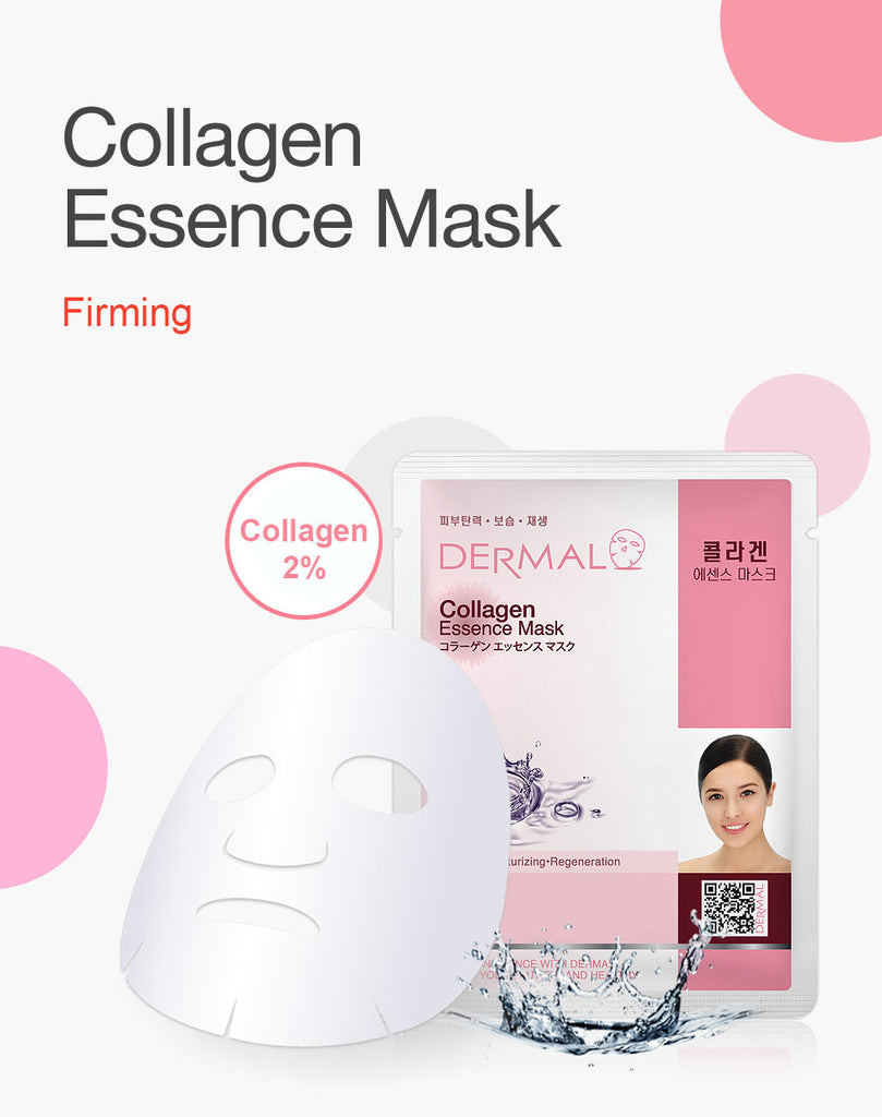DERMAL COLLAGEN ESSENCE MASK - COLLAGEN - PACK (10CT) - Dermal Cosmetics USA