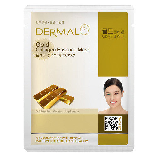 DERMAL COLLAGEN ESSENCE MASK - GOLD - PACK (10CT) - Dermal Cosmetics USA