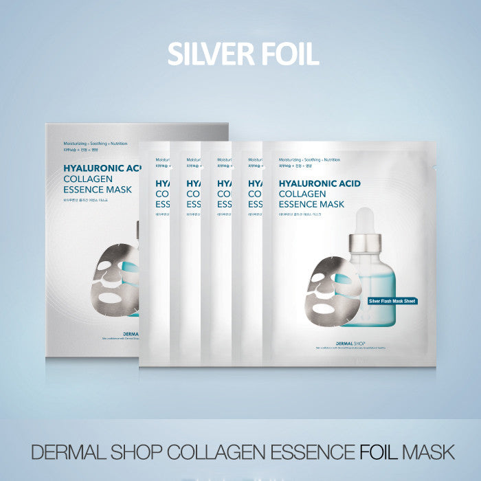 DERMAL SHOP COLLAGEN ESSENCE FOIL MASK - SILVER-1 BOX (5 sheets) - Dermal Cosmetics USA