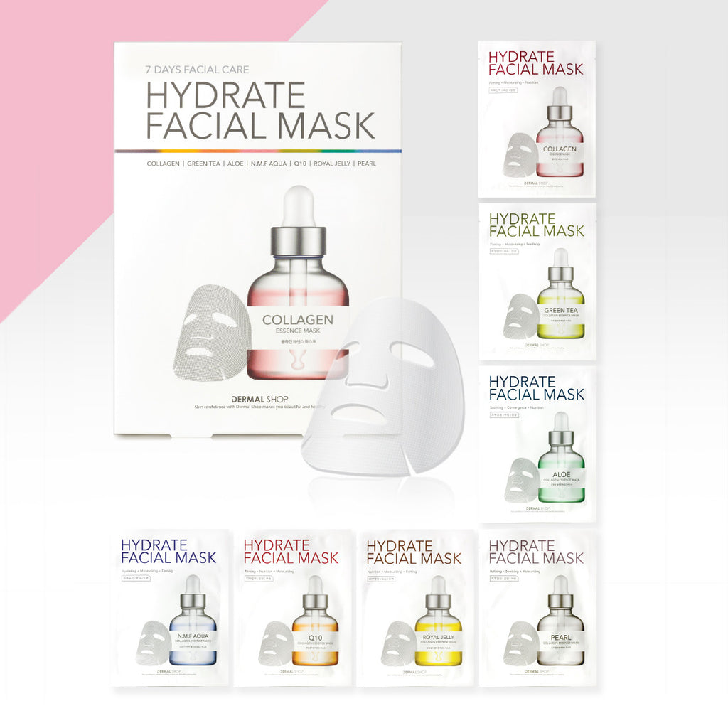 DERMAL SHOP HYDRATE FACIAL MASK - 7 DAYS MASK CARE - Dermal Cosmetics USA