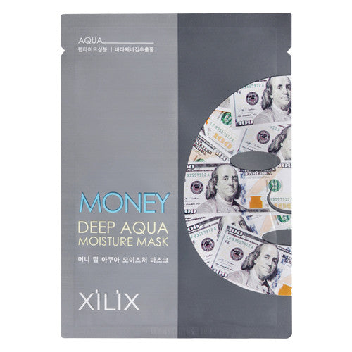 MONEY DEEP AQUA MOISTURE MASK - US DOLLAR - CASE  (10CT) - Dermal Cosmetics USA