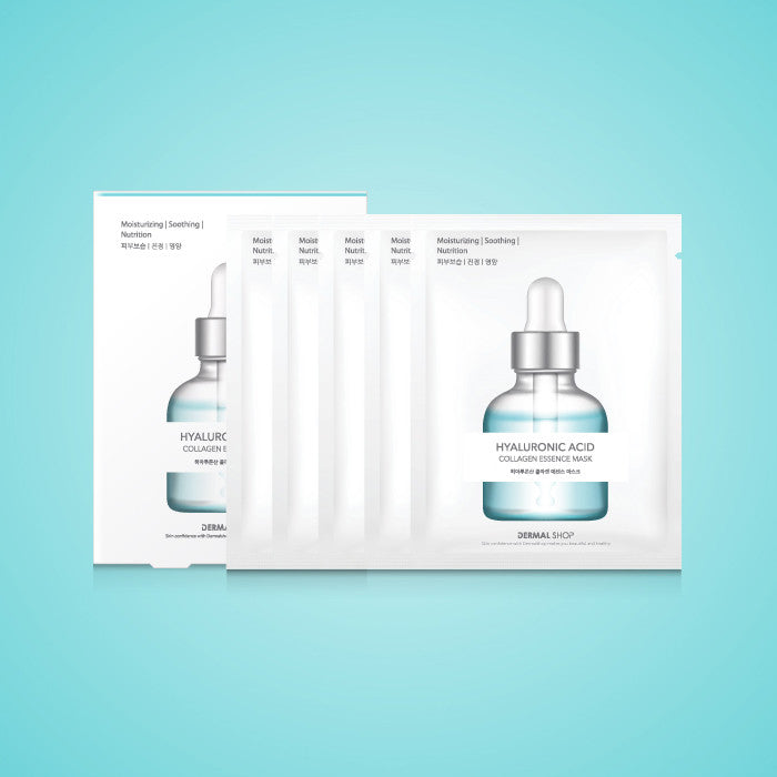 DERMAL SHOP COLLAGEN ESSENCE MASK - HYALURONATE - 1 BOX (5 sheets) - Dermal Cosmetics USA