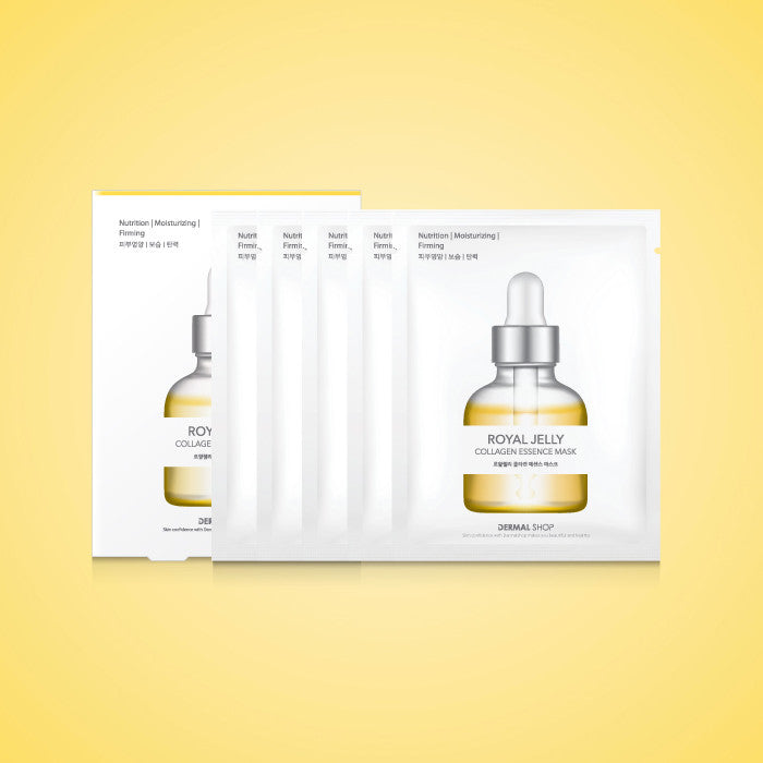 DERMAL SHOP COLLAGEN ESSENCE MASK - ROYAL JELLY - 1 BOX (5 sheets) - Dermal Cosmetics USA
