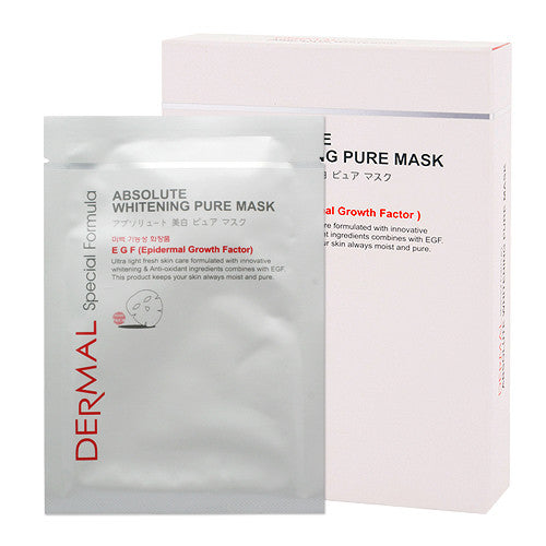 SPECIAL FORMULA ABSOLUTE WHITENNG PURE MASK - CASE (8CT) - Dermal Cosmetics USA