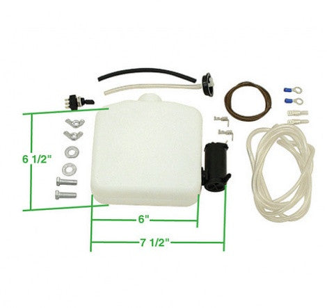 Electric windshield washer kit