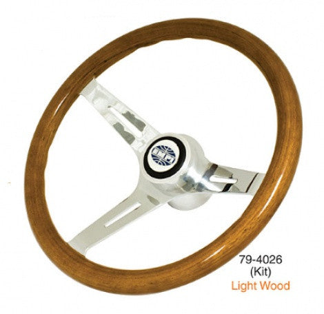 EMPI 380mm ,23mm Grip Classic Wood Steering Wheel kit
