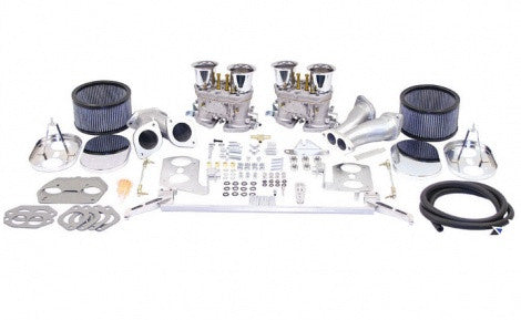 EMPI Delux Dual HPMX Type 1 Carb Kits With Chrome Air Cleaners