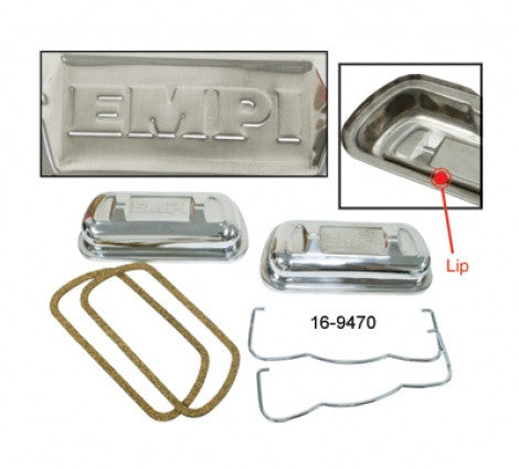 EMPI Stainless Steel Valve Covers