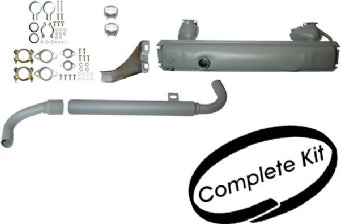 EXHAUST KIT w/Tail pipes & mounting kit, Kombi 13-1600cc