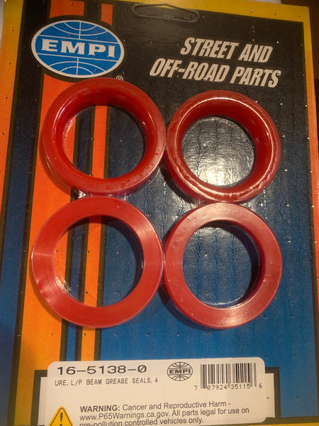 Axle Beam Tube Seals, T1 King/Link Pin