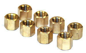 Brass 11mm hex  manifold nuts