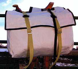 Canvas Saddle Panniers with lids
