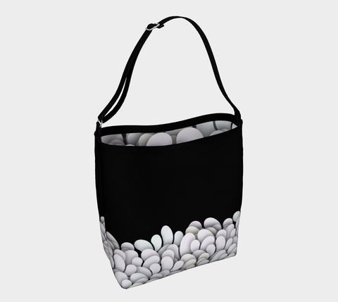 Black and White - Petals Tote Bag