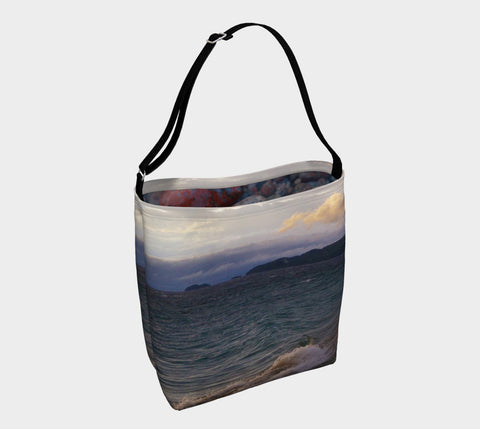 Lake Superior Agawa Bay - Cloudy Day Tote Bag
