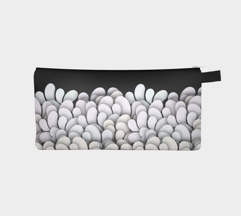 Black and White - Petals Pencil Case