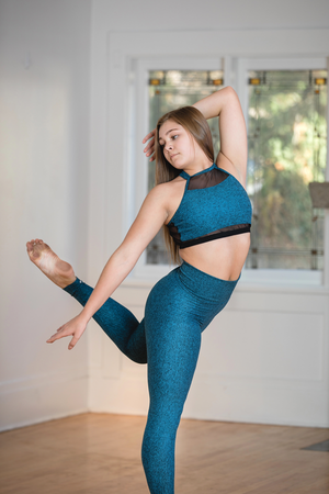 PK Active Strappy TOP - Heather Teal