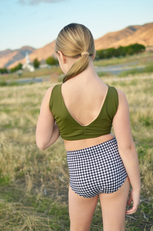 Ruched Back Top - Olive