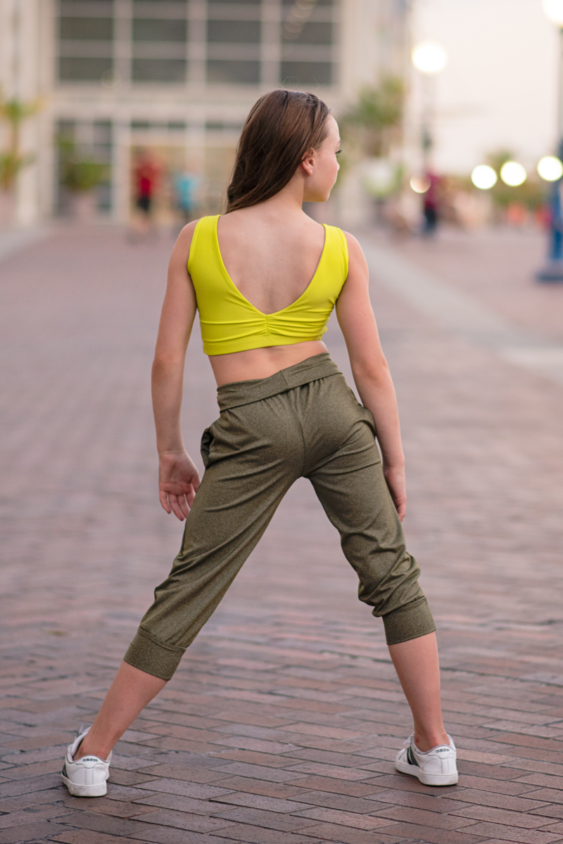 Capri Jogger - Heather Olive