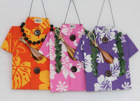 Two-Tone trio of colorful Aloha prints #1