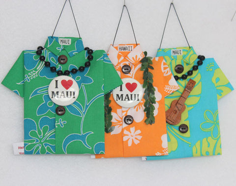 Two-tone trio of colorful Aloha prints #2