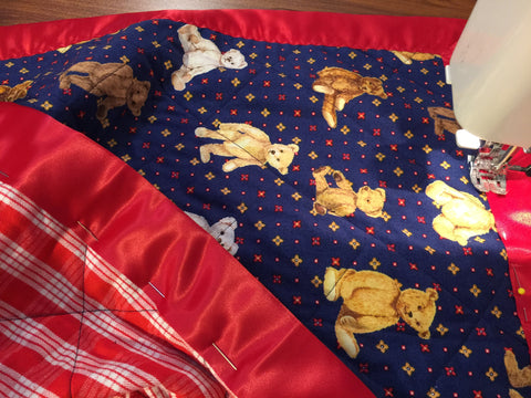 Baby blanket - Antique Teddys + pillow case