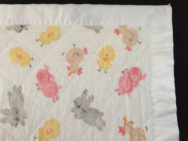 Baby blanket - Baby farm animals