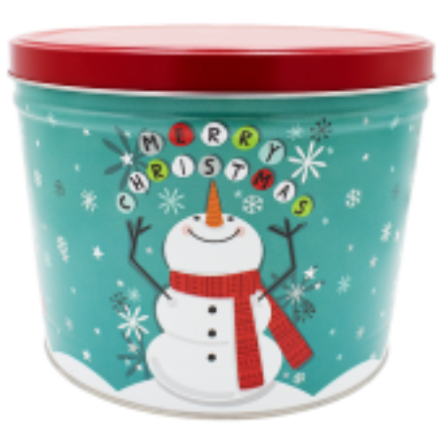 Cheery Snowman Tin - 2 Gallon