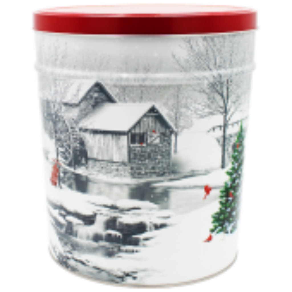 Snow Covered Mill Tin - 3.5 Gallon