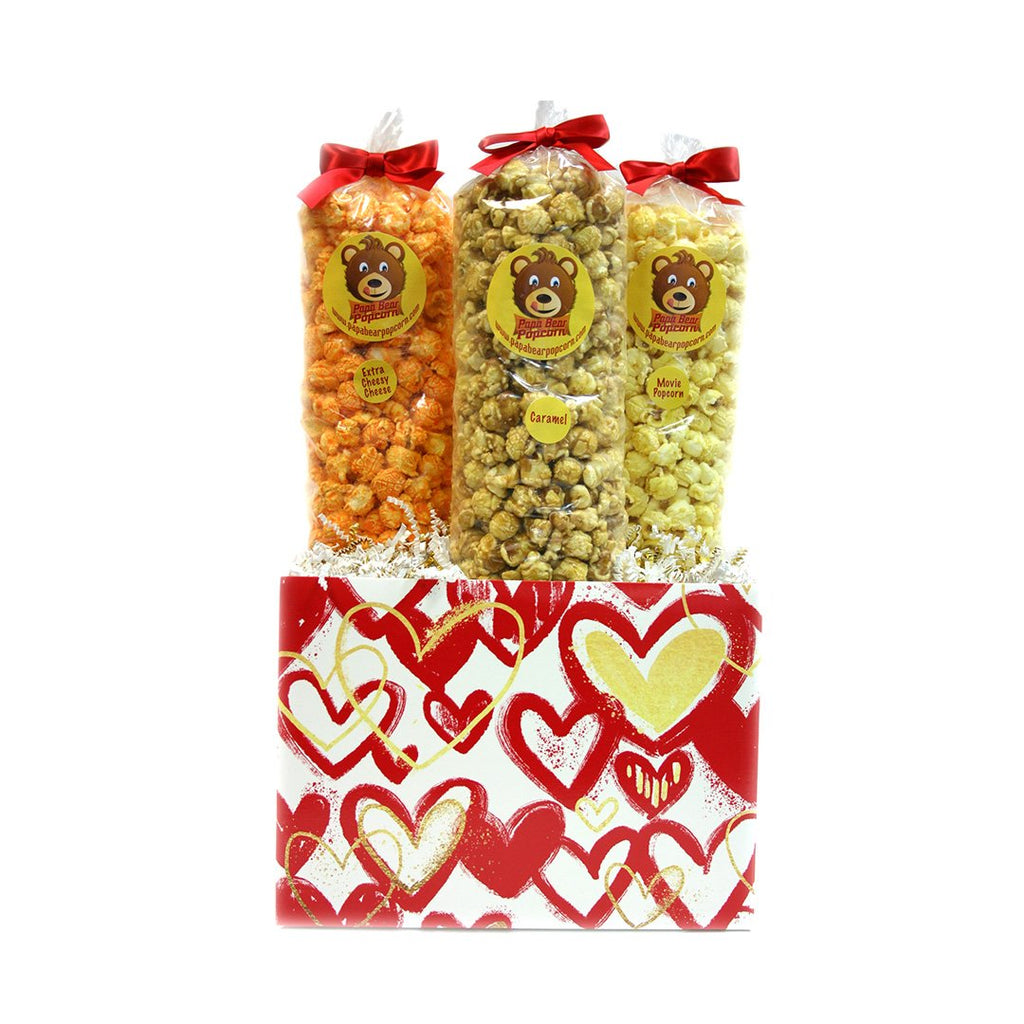 Red & Gold Hearts Box