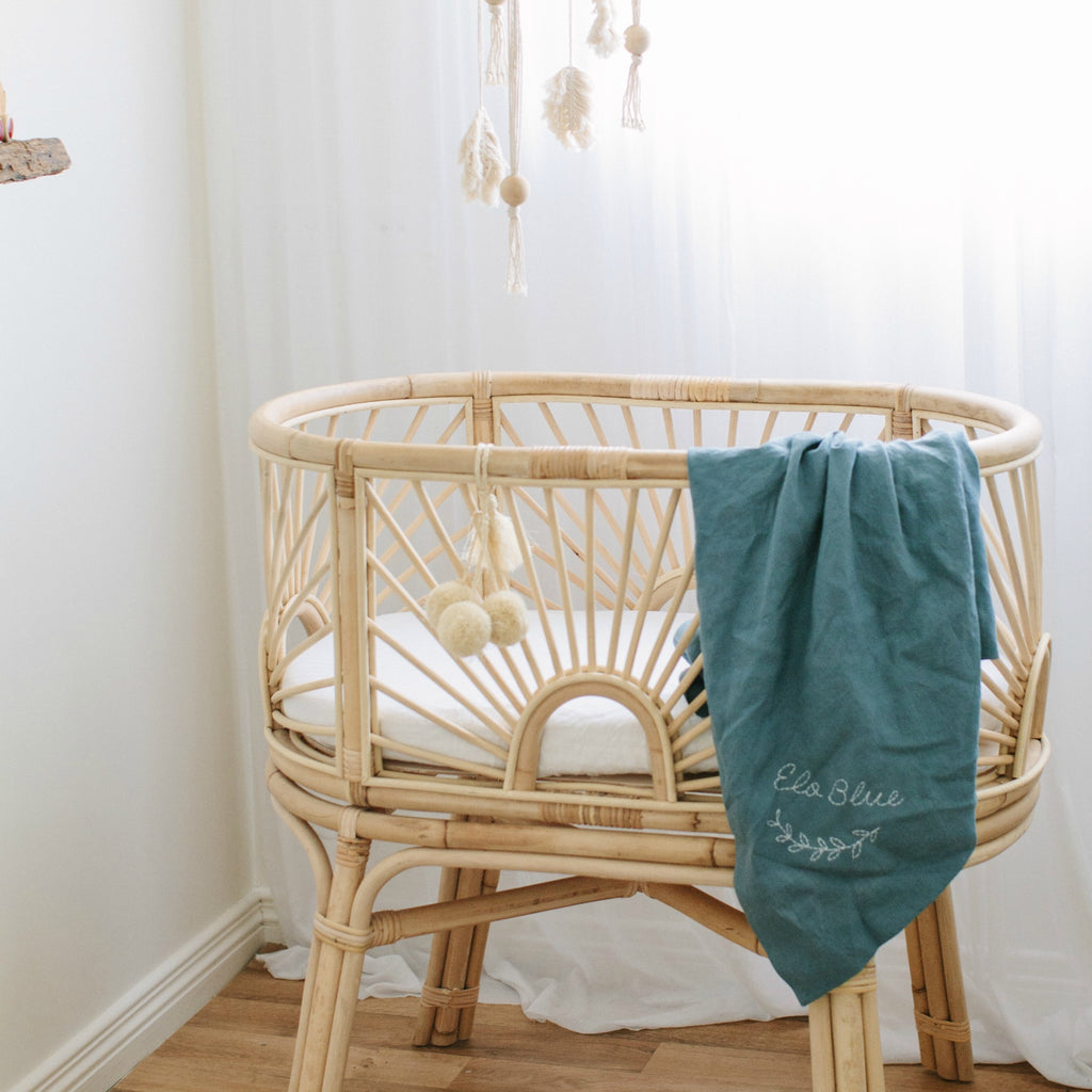 Simple Boho Boys Style Nursery