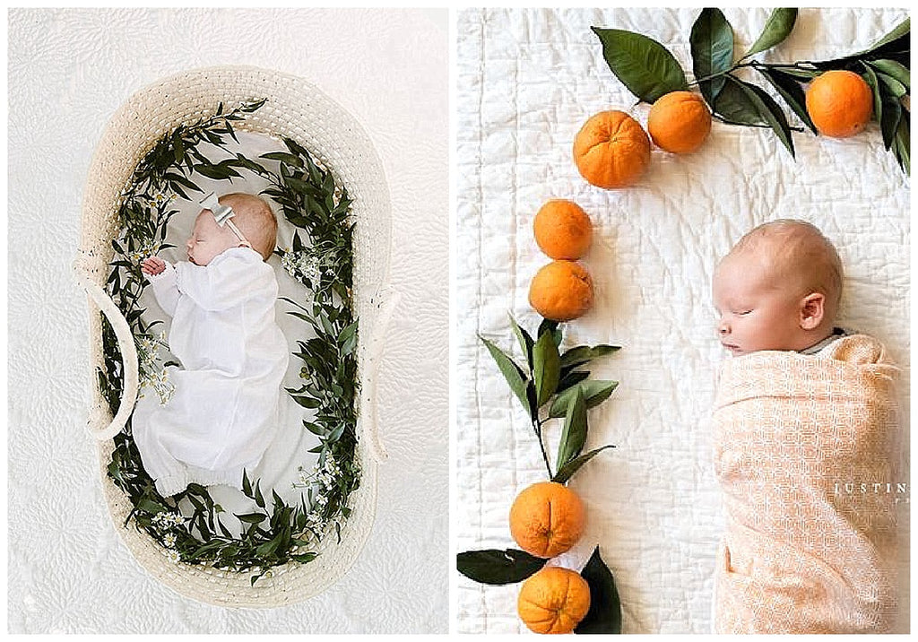 Floral Wreath newborn photography trends