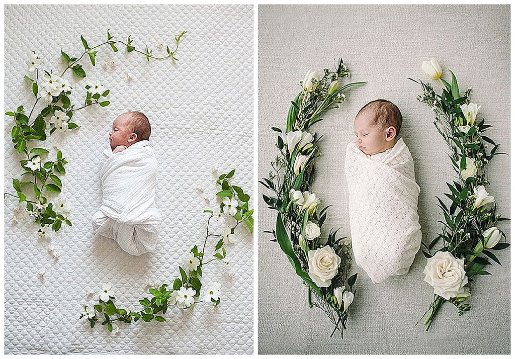 Little Trend.. floral wreath newborn photography