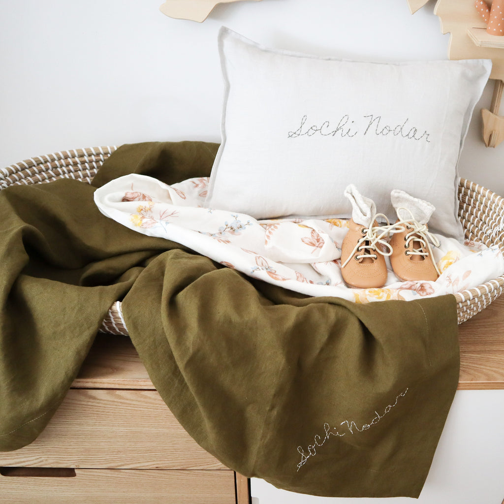 personalised pillow and wrap blanket