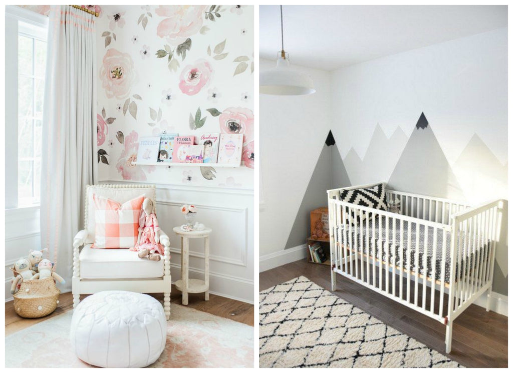 Nursery Trends for 2017 .. wall murals
