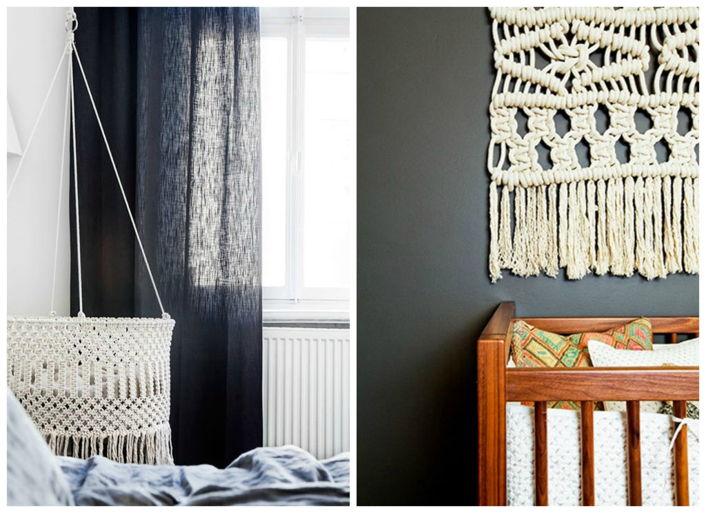 Nursery Trends for 2017 .. boho and macrame