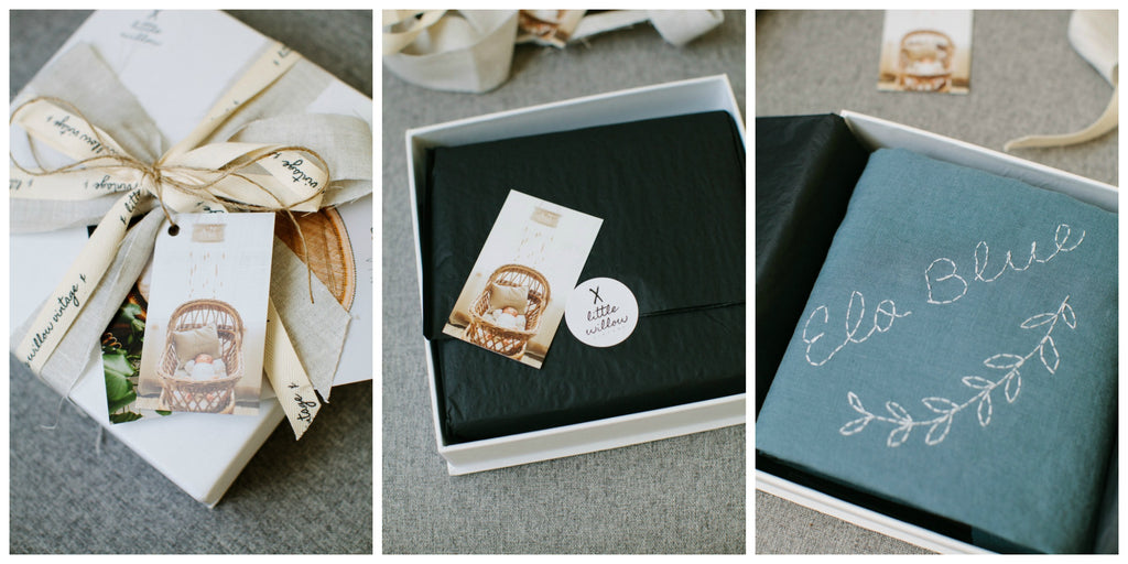 gift packaging, baby gift , custom wrap , hand stitched baby wrap
